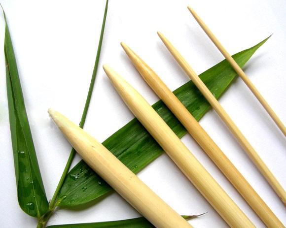 15 Sets Stricknadeln Nadelspiel Bambus 2-10mm 20cm Lang