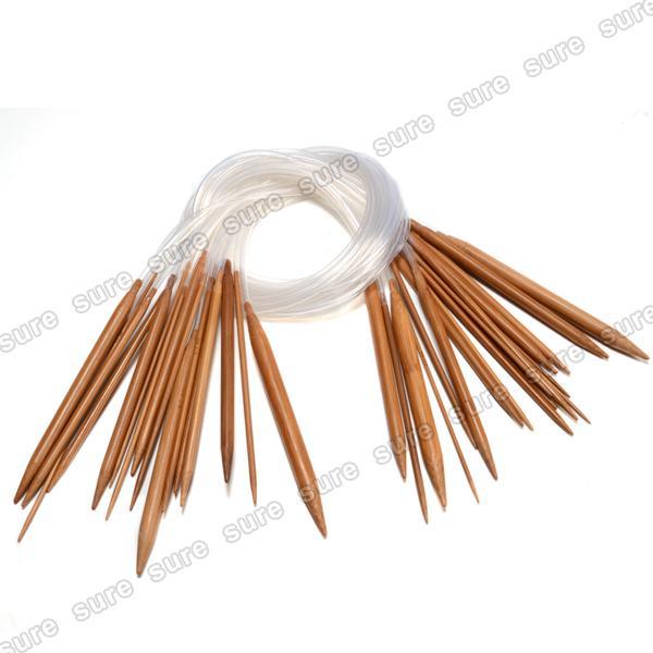 18 paar Rundstricknadeln Bambus Häkelnadel Set Nadel Häkeln Stricknadeln 2-10mm