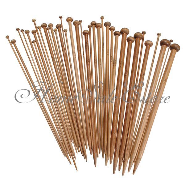 36 Stück Bambus Häkelnadel Set Nagelset Nadel Häkeln Stricknadeln Stärke 2-10mm