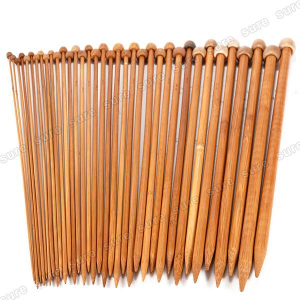 36er. in 18 Stärke Stricknadeln Bambus Nadelspiel Bambusstricknadeln Set