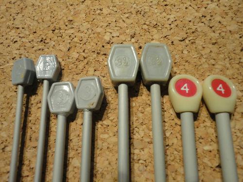 4 Paar Stricknadeln - Set