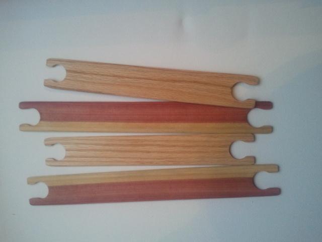 """4 weaving shuttles,10 inch weaving stick shuttle. 100% Oak. 1.5"""" wide."""