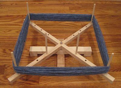 "60"" Hard Maple Yarn Swift Skeinwinder Spinning Roving"