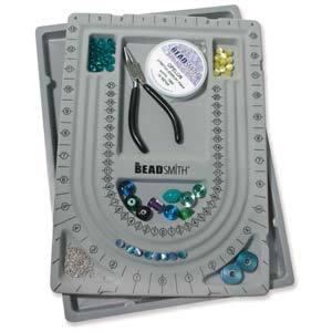 Bead Design Beading Board Gray Flock W/ Lid 9X12 In
