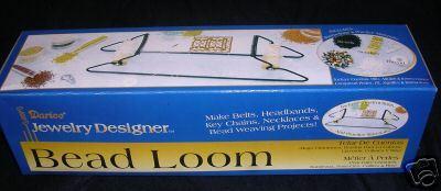Bead Loom KIT Beading Belts Headbands Weaving Metal Beads Thread Needle