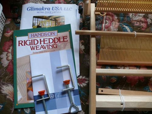 "Glimakra Emilia 19"" Rigid Heddle Loom with Extra Heddle Weaving Book Etc."