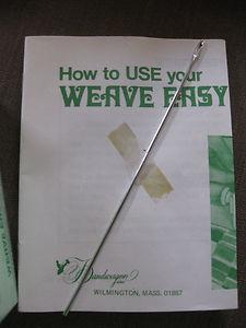 "HAND WEAVING LOOM-""WEAVE EASY HAND LOOM"" NEW IN BOX-BANDWAGON INC. +BOOK"