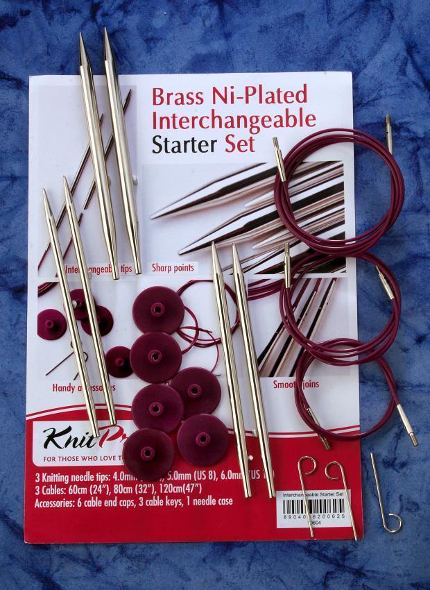 Knit Pro Nova Metall Starter Set Rundstricknadeln Nadelset KnitPro Stricknadeln