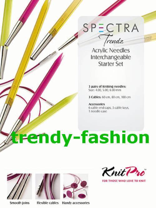 Knit Pro Set SPECTRA Trendz Acryl Nadelset mehrfarbig Starter SET