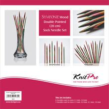 Knit Pro Symfonie Strumpf Nadelspiel Set 20 cm mit 6 Nadelgrössen