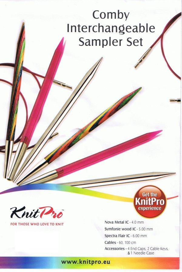 KnitPro Comby Set - Metall, Symfonie, Spectra- Stricknadeln, Nadelset