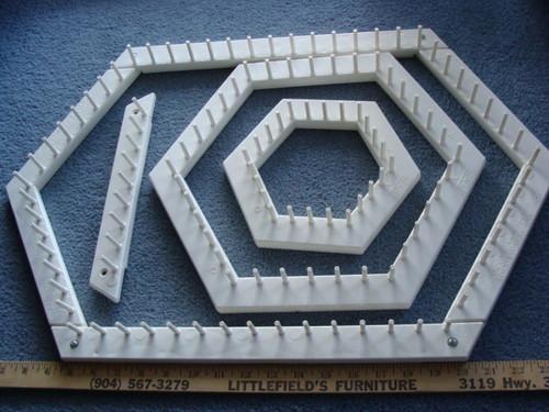 Love & Money Crafts Hexagon Lap Weaving Loom Set w/Pattern Book
