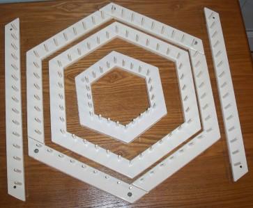 Love & Money Looms 2 COMPLETE SETS Hexagon Dinner Rectangle Square John Alan