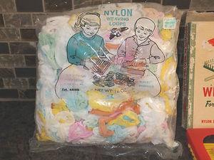 Plastic Loom WOOLWORTH with Bag of Weaving LOOPS Original Box Included
