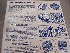 WNC Hand Weaving Loom & Metal Hook for Jersey Loop Weaving, & Loops