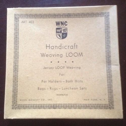 WNC Handicraft Weaving Loom...Retro. Jersey Loop Weaving, for Pot Holders