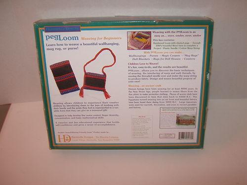 Weaving Loom for Beginners PegLoom Harrisville Designs Complete Kit