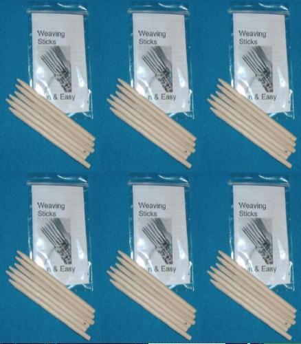 Weaving Sticks Basic 6 sets of 6 sticks Assorted Hardwood  PBT