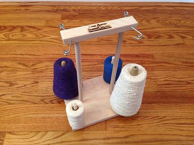 Yarn or Wool Cone Holder Rack for Weaving Loom Bobbins