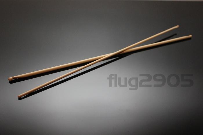 doppelseitige Häkelnadel Set 2 Stück Bambus 3,75 + 5,0mm Länge 34cm beide Enden