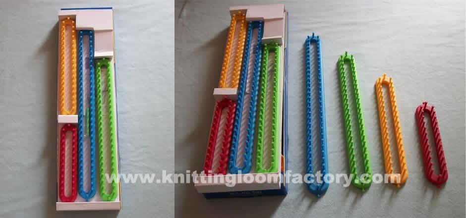 Long Loom,Long Knitting Loom,Knitting Loom,nifty Knitter Long Loom Series,Long Knitting Loom Set of 4 Looms